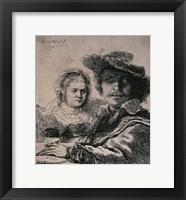 Framed Self-Portrait with Saskia, 1636