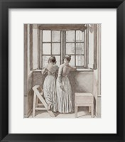 Framed At a Window in the Artist's Studio, 1852
