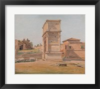 Framed Arch of Titus in Rome, 1839