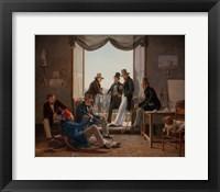 Framed Group of Danish Artists in Rome, 1837
