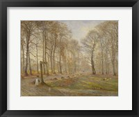 Framed Late Autumn Day in the Jaegersborg Deer Park, North of Copenhagen, 1886