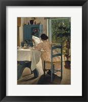 Framed Breakfast with the Morning Newspaper, 1898