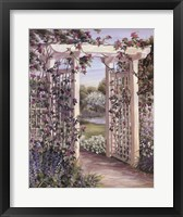 Framed Garden Escape I