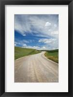 Framed Gravel Road Near Choteau Montana II