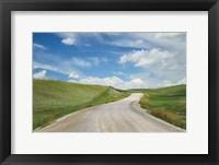 Framed Gravel Road Near Choteau Montana I