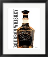 Framed Bourbon Whiskey