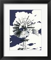 Framed Texas Wind Navy Crop
