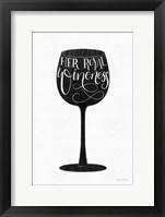 Framed Wineness BW