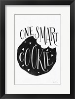 Framed One Smart Cookie BW