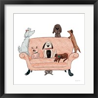 Framed Playful Pets Dogs I