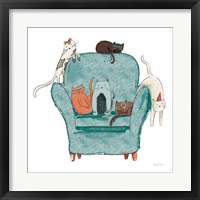 Framed Playful Pets Cats I