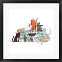 Framed Picnic Pets Cats I