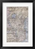 Framed Old Map Africa
