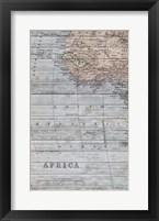 Framed Old Map Africa II