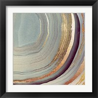 Framed Grey Marble Swirl