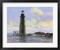 Framed Graves Lighthouse - Boston