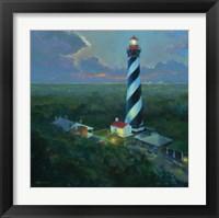 Framed St. Augustine Lighthouse Aloft
