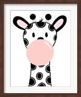 Framed Black Giraffe