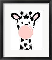 Framed Black Giraffe
