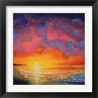 Framed Vivid Sunset