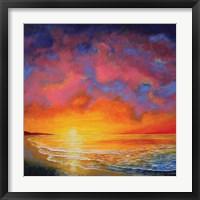 Framed Vivid Sunset