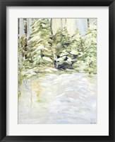 Framed Snowy Trees