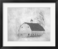 Framed White Barn II