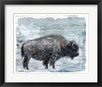 Framed Winter Buffalo