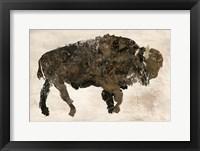 Framed Abstract Buffalo