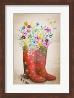 Framed Wild Flower I