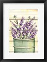 Framed Floral Lavender IV