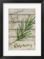 Framed Rosemary