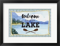 Framed Welcome to the Lake