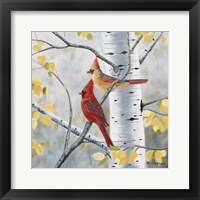 Framed Pair of Cardinals