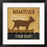 Framed Floats Your Goat