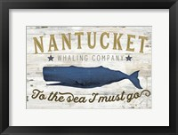 Framed Nantucket Whaling Co.