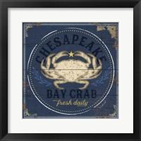 Framed Chesapeake Bay Crab