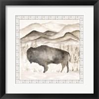 Framed Bison w/ Border
