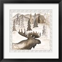 Framed Moose w/ Border