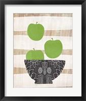 Bowl of Green Apples Framed Print