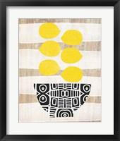 Bowl of Lemons Framed Print