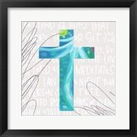 Framed Blue Cross
