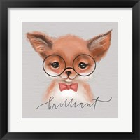 Framed Brilliant Fox