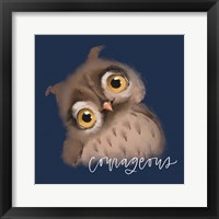Framed Courageous Owl