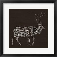 Framed Elk Lodge