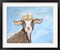 Framed Queen Goat