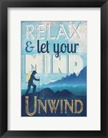 Framed Let Mind Unwind