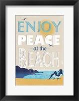Framed Peace at the Beach