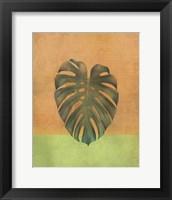 Framed Orange Leaf