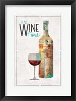 Framed It's Wine Time